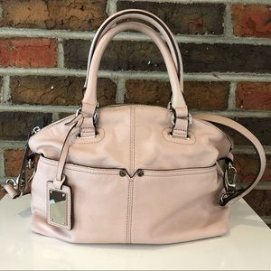 Tiganello Light Pink Leather Convertible Bag